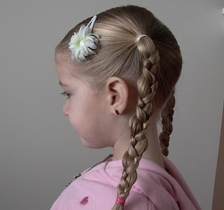 Little Girl's Hairstyles -Bumpy Uneven Braid