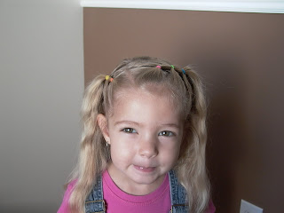 Little Girl's Hairstyles -Headband Puffy Braid