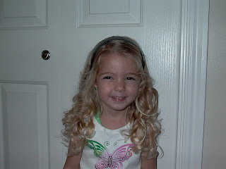Little Girl's Hairstyles -The Not So Perfect Curls with a Curling Iron