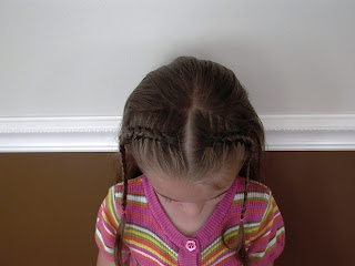 Little Girl's Hairstyles – French or Dutch Braids
