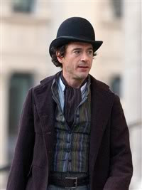 Robert Downey Jr as Sherlock Holmes in the movie Sherlock Holmes 2.