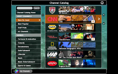 Joost list of channels