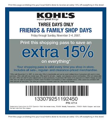 kohls printable coupons 2011. use this Kohls printable