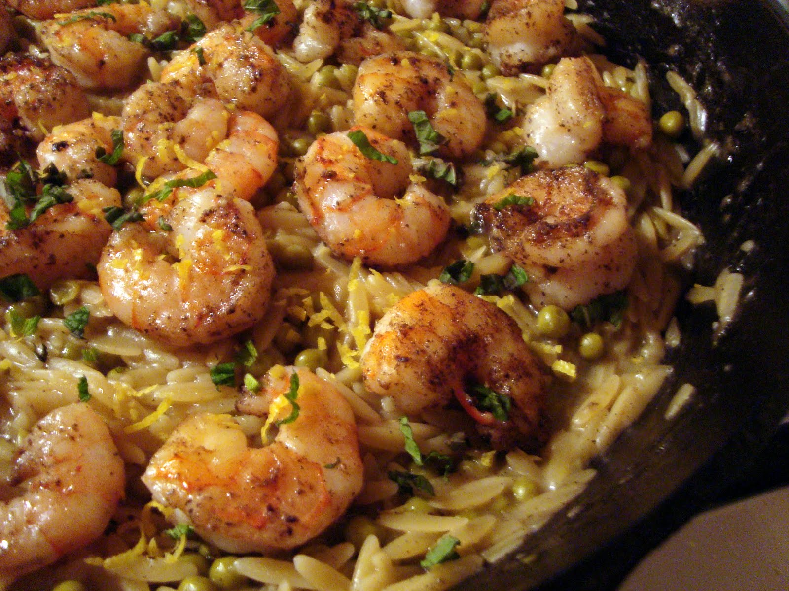 Skillet Shrimp And Orzo Recipe — Dishmaps