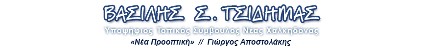 ΒΑΣΙΛΗΣ Σ. ΤΣΙΔΗΜΑΣ