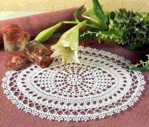 Crochet Galore: Around A Square Doily - Free Pattern