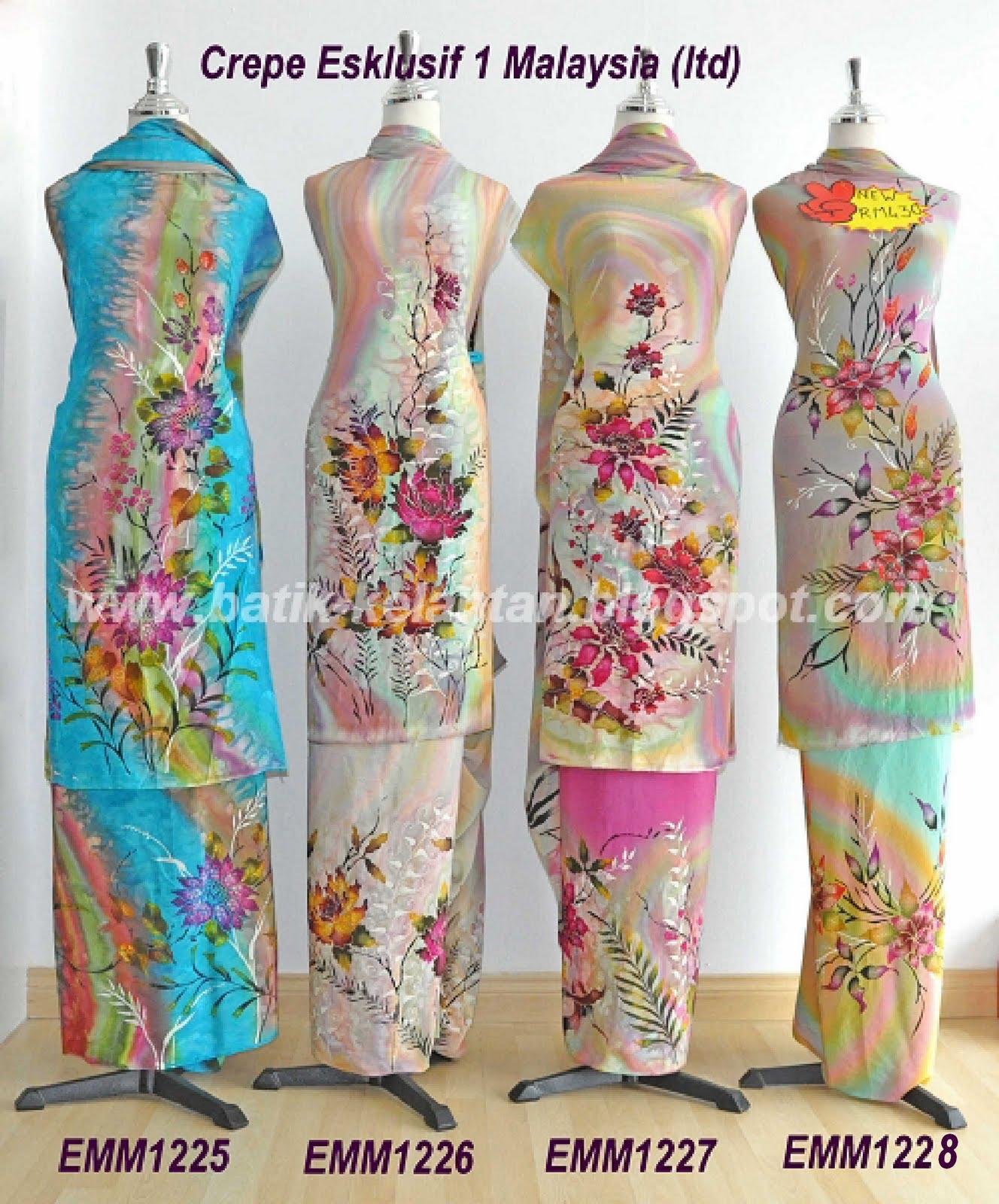 Batik lukis kelantan: Batik Lukis Crepe Esklusif 1 Malaysia (NEW)