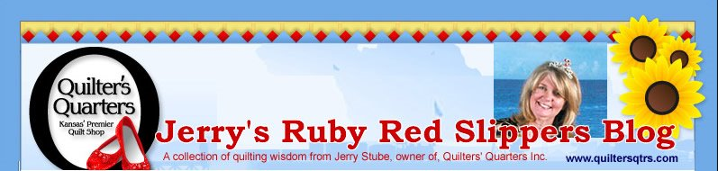 Ruby Red Slippers of Quilters' Quarters