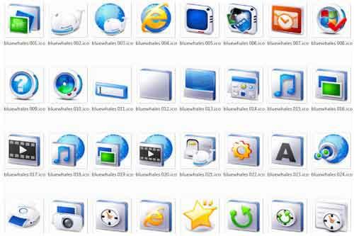Paquete con 75 íconos en formato .png y .ico