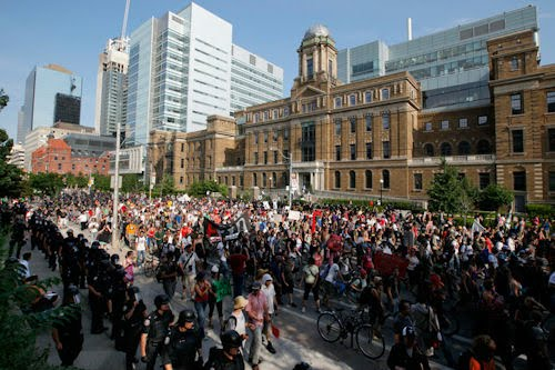 Imágenes del G20 y G8 en la ciudad de Toronto Canadá