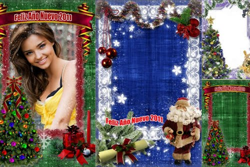 3 porta retratos navideños para poner tus fotos (.psd)