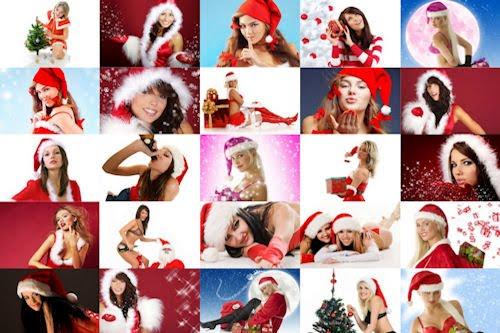 25 fotografías de chicas muy navideñas (mujeres hermosas)