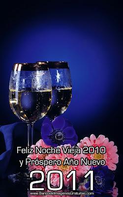 Imágenes con mensajes para Noche Vieja 2010 y Año Nuevo 2011