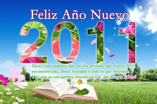 Hermoso wallpaper con mensaje de Año Nuevo 2011