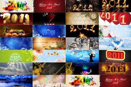 37 Wallpapers para el año nuevo 2011 (recopilación)