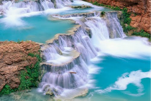 Cascadas de agua turquesa - 1920x1080px Turquoise waterfalls wallpaper