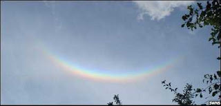 an upside down Rainbow spotted over Cambridge last week