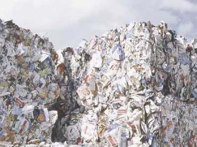 a waste mountain
