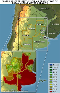 Major Droughts And Dropping Food Production Around The World - Argentina drought map
