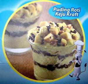 Resep Puding Roti Keju Kraft