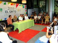 RUEDA DE PRENSA EVENTOS BI CENTENARIO 2010