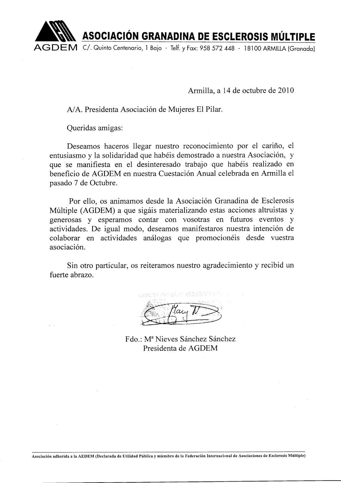Carta De Agradecimiento Por Colaboracion