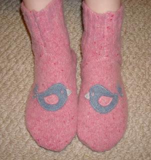 wool felt slipper socks