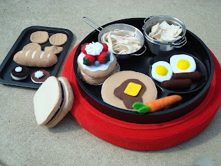 wool felt play food