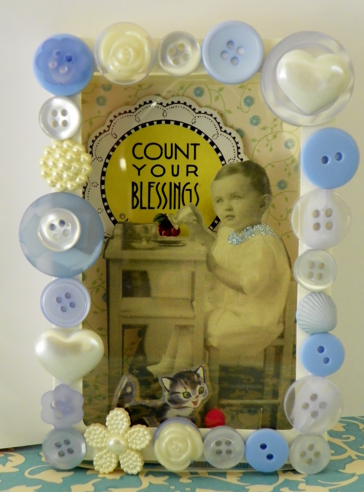 Count Your Blessings is Mary Engelbreit chipboard from one of those