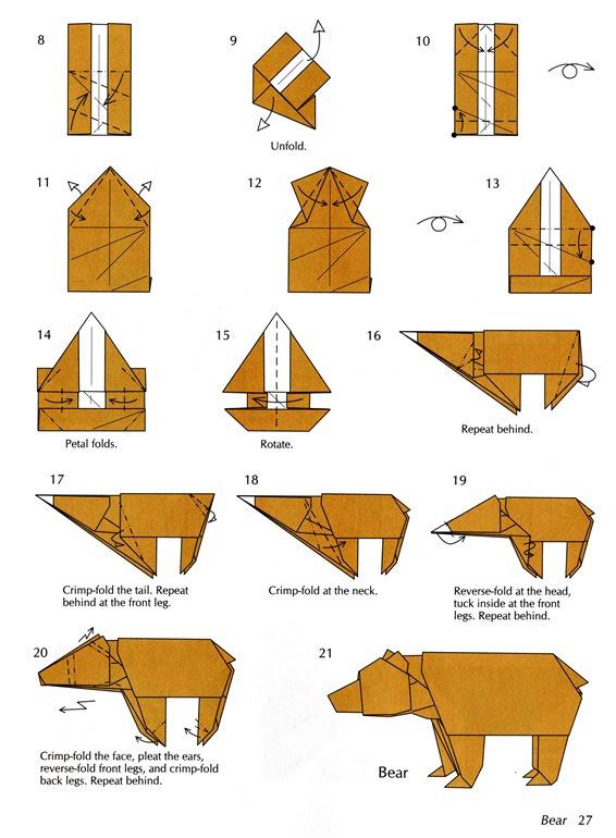 Origami Bear Diagram Origami Polar Bear Folding