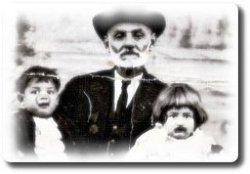 Yusuf Efendi, Torunları Fatma ve Behçet.
