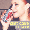 i ♥ the diet coke ! xD