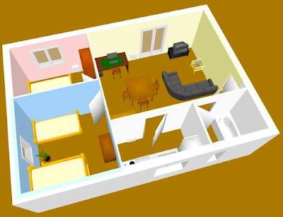 sweet home d es una aplicacin libre de diseo de interiores que le ayuda a colocar sus muebles sobre un plano de una casa en d con una vista previa en