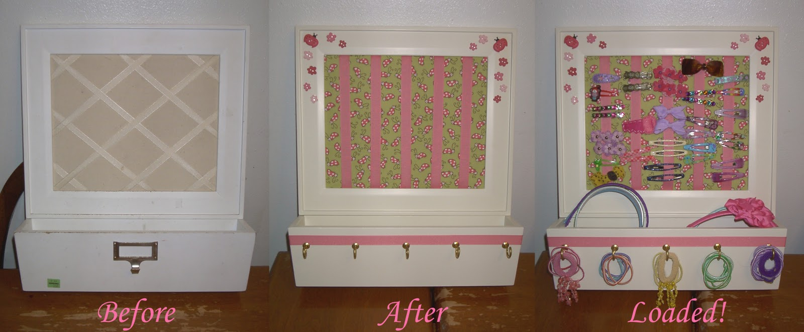 Angie S Whim Upcycle Project Organizer For Hair Accessories