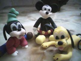 Mikey , Pluto , Gooffy