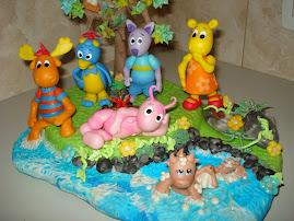 centro de torta backyardigans