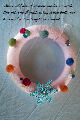 Yarn Wreath Tutorial