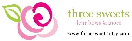 Three Sweets Hair Bows