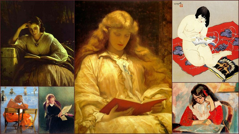 WOMAN READING, PAINTINGS