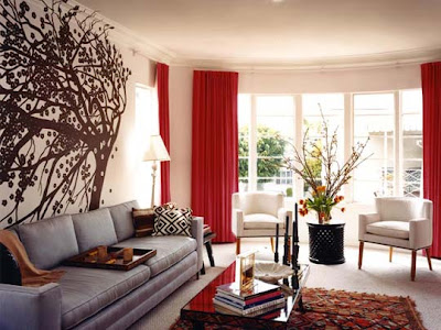 Designs  Living Rooms on Decorating Ideas  10 Red And White Living Rooms Interior Design Ideas