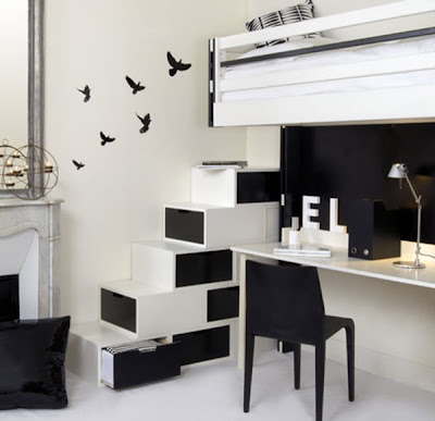 black and white modern interior designs with minimalist style