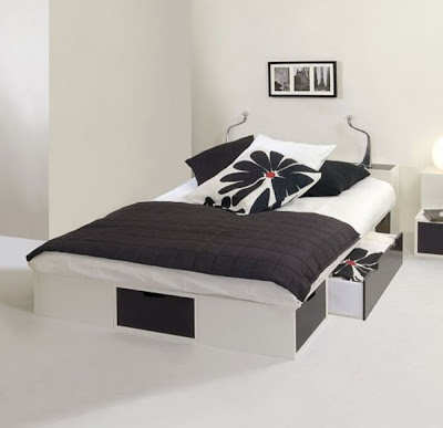 black and white modern bedroom designs