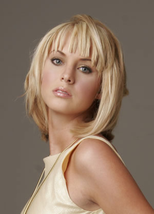 cute hairstyles bangs. 2010 Medium Layered Hairstyles