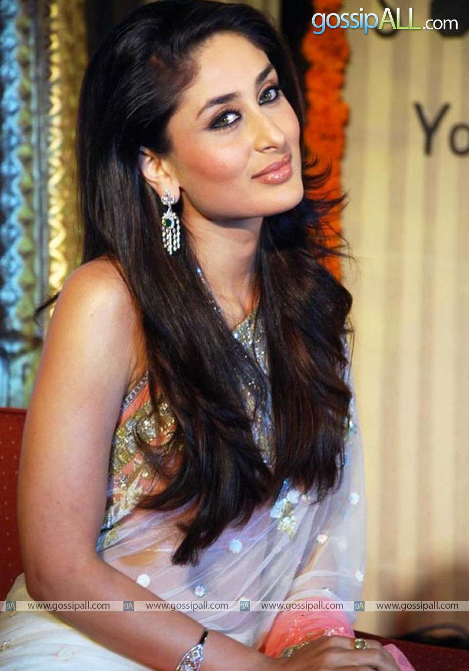 Hot Kareena Kapoor Pink Saree HD
