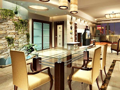 Expensive Dining Room Furniture on Luxury  Style Dining Room With  Glass Furniture