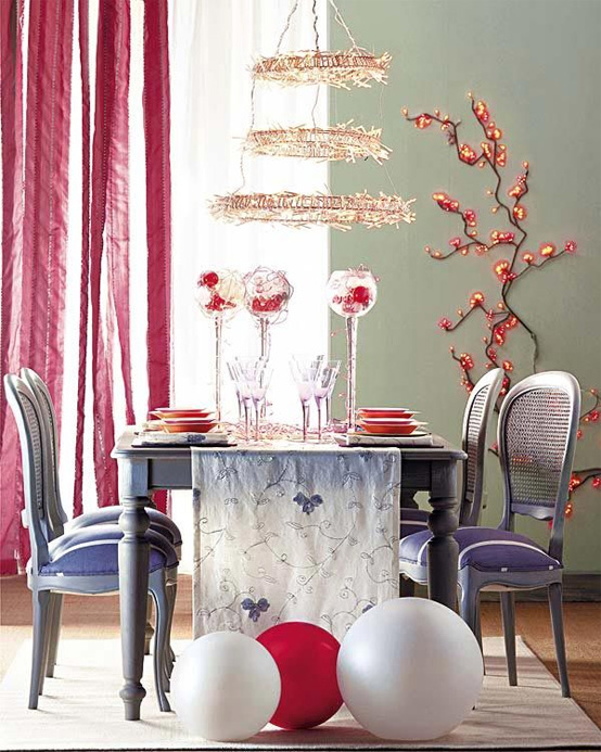 Office Minimalist: Beautiful Christmas Table Decorating Ideas