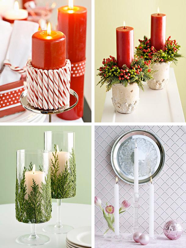 Beautiful christmas candles decoration ideas interior - Christmas decorations interior design ...