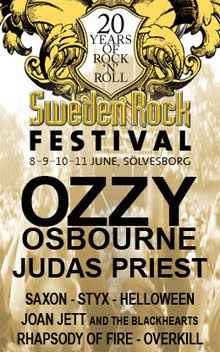 Judas Priest, Helloween, Styx y Damned al Sweden Rock Festival 2011