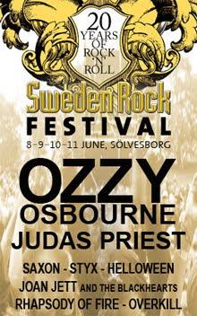 Kansas, Stryper y Buckcherry confirmados para el Sweden Rock Festival