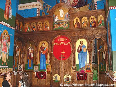 The interior of the church St. Atanasij in Lesok